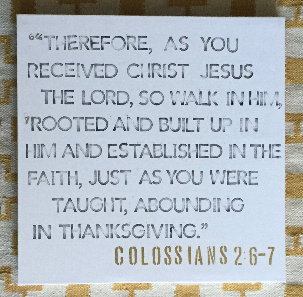 stamping - colossians