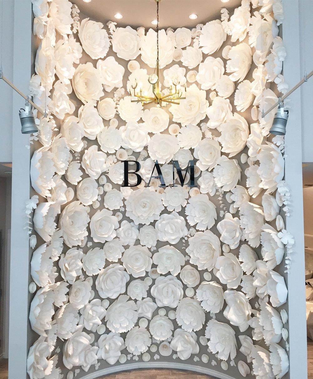 BAM Paper Flower Wall