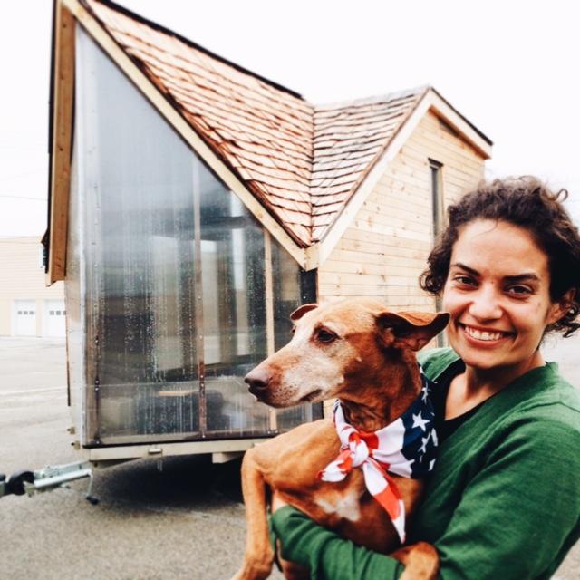 Leah, her dog Maxi.