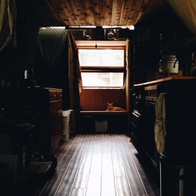 A view of the inside of the tiny house.
