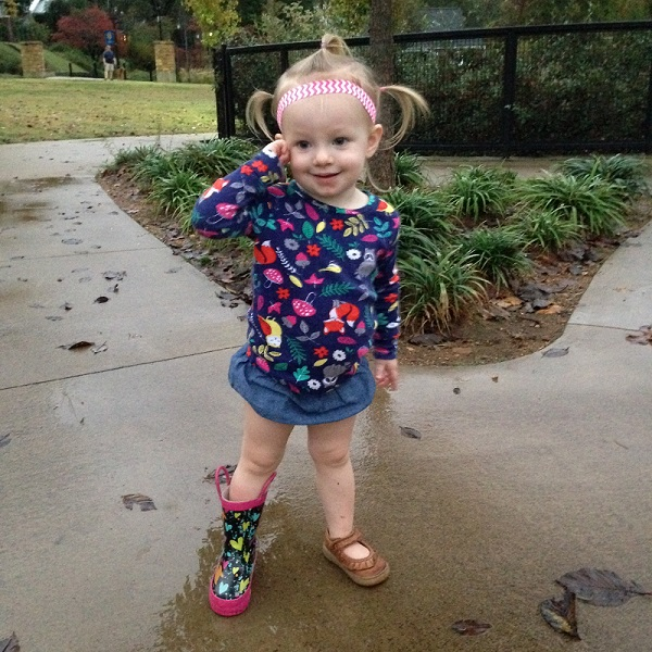 A good example of Olivia's blossoming fashion sense.