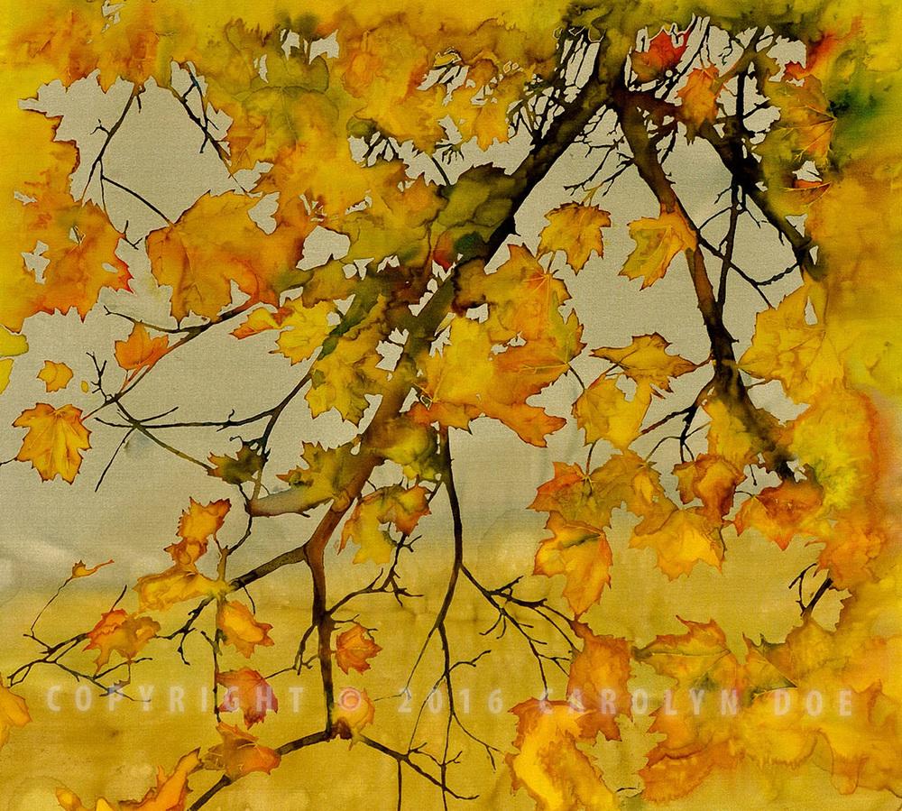 Batik Fall Leaves
