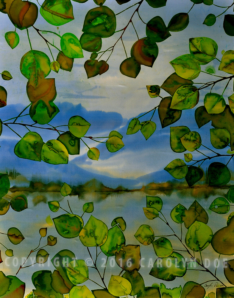 Batik Leaves and Lake