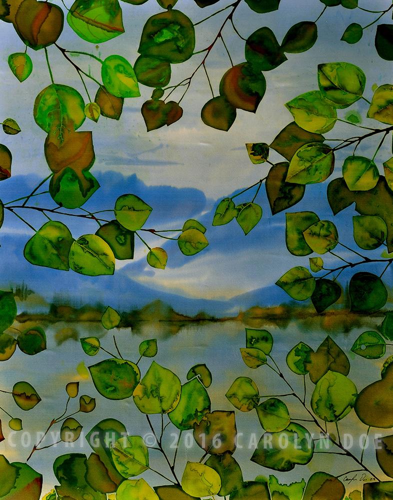 Batik Leaves and Lake