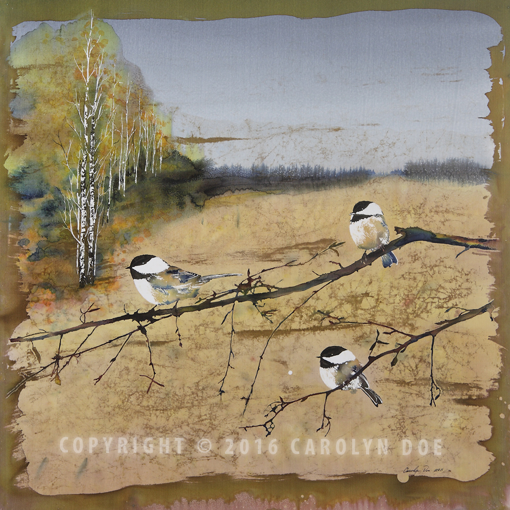 Chickadees in Sepia