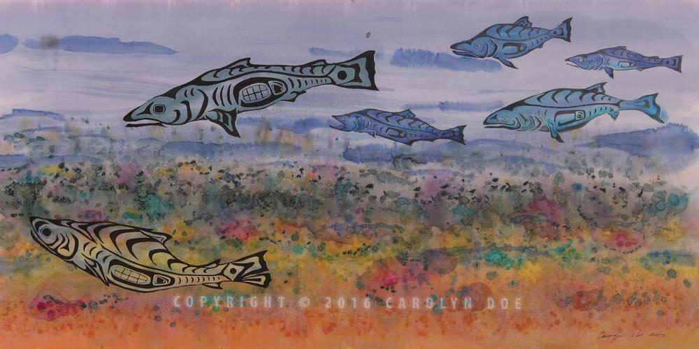 Salmon in The Stream