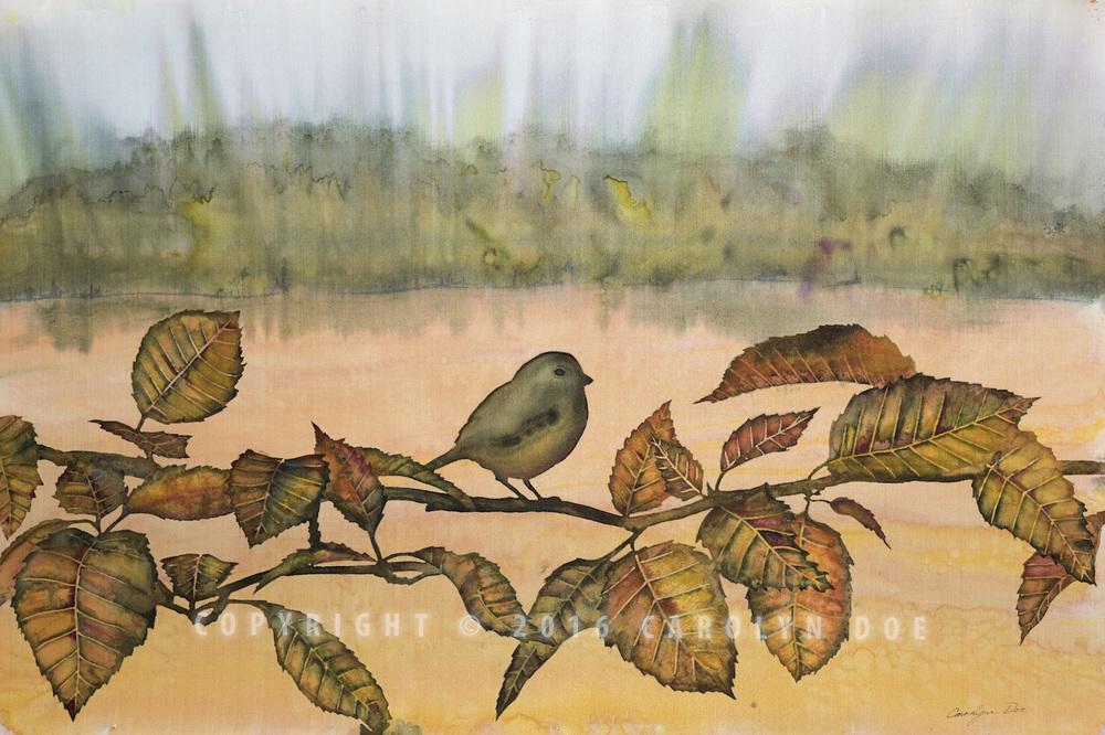 Silk Bird on a Branch
