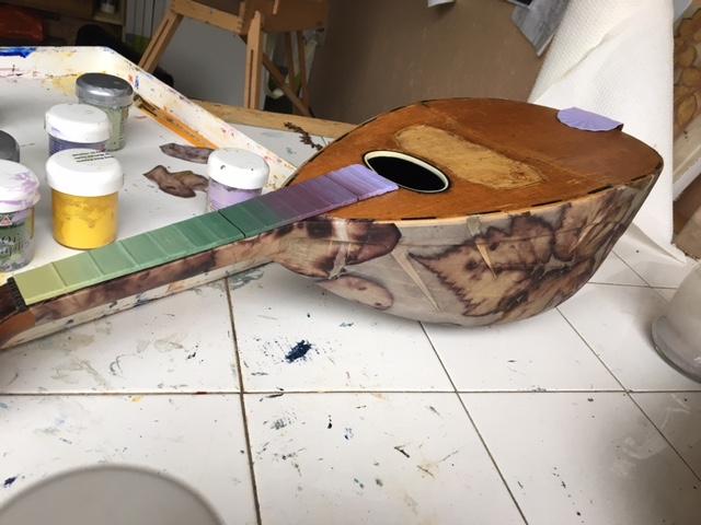 Painting begins.