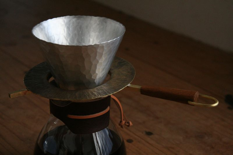 Metal coffee dripper by Dai Inagaki  $200 (MADE TO ORDER)