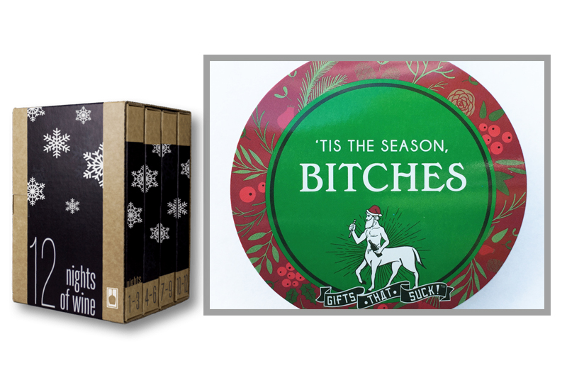 """9.  12 Nights of Wine from  vinebox.com  