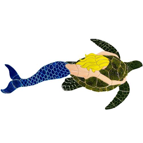Mermaid with Turtle (Blonde)