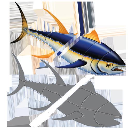 Tuna (Down) with Split w/sh