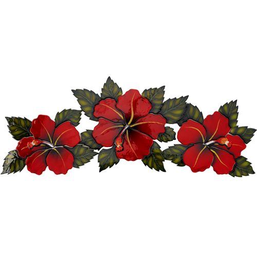 Triple Hibiscus (Red)