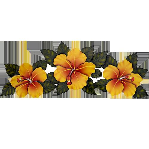 Triple Hibiscus (Yellow)