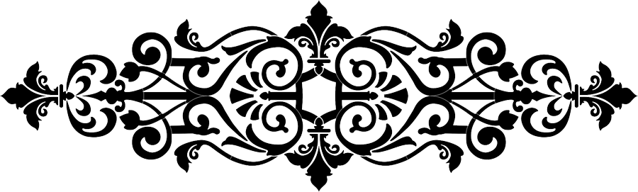 Baroque Center Scroll Black.png