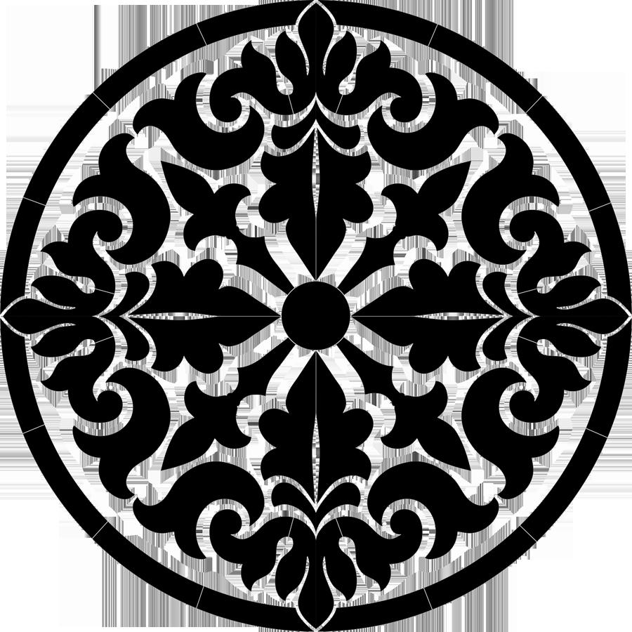 Baroque Madallion Black.png