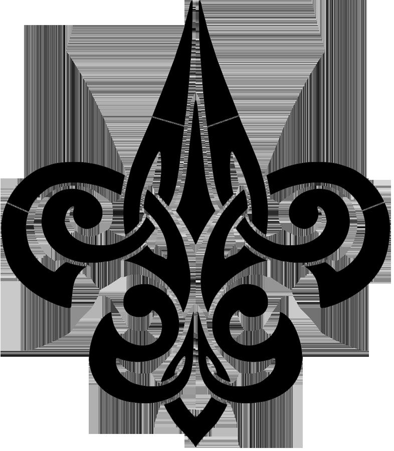 Tribal Fleur De Lis Black.png