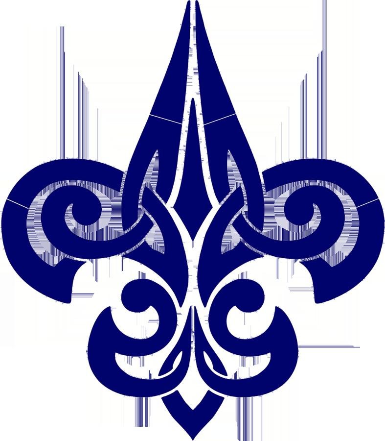 Tribal Fleur de lis Blue.png