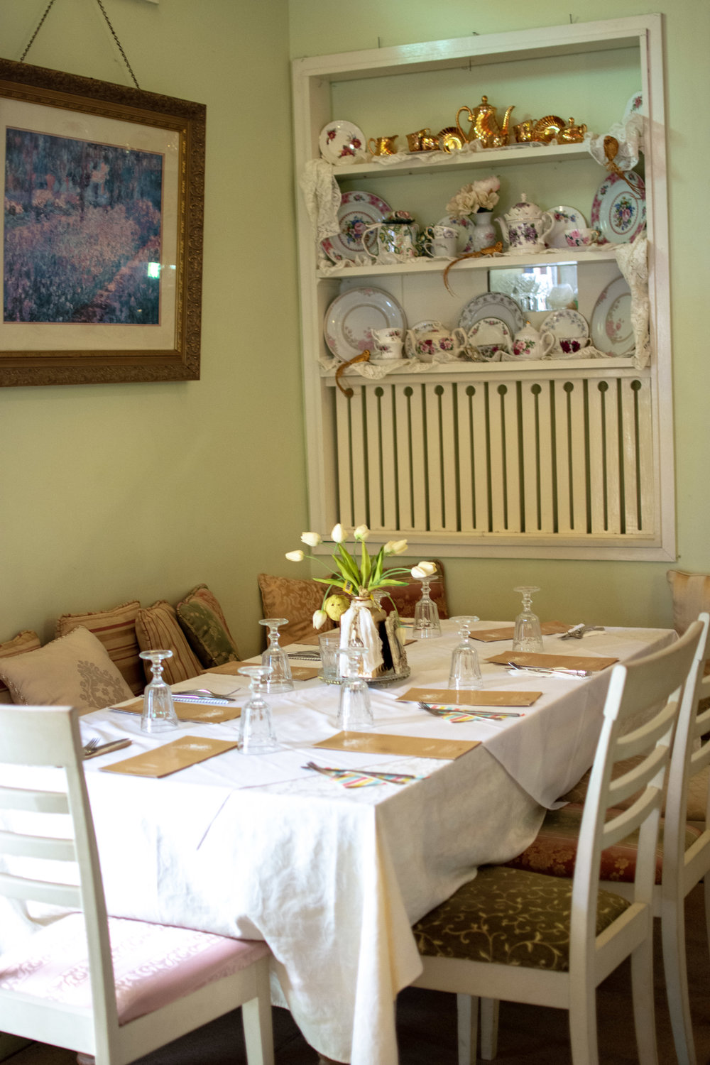 Seating up to 25 people comfortably means you can book your special occasion with us and have it exclusively in the Tearoom!