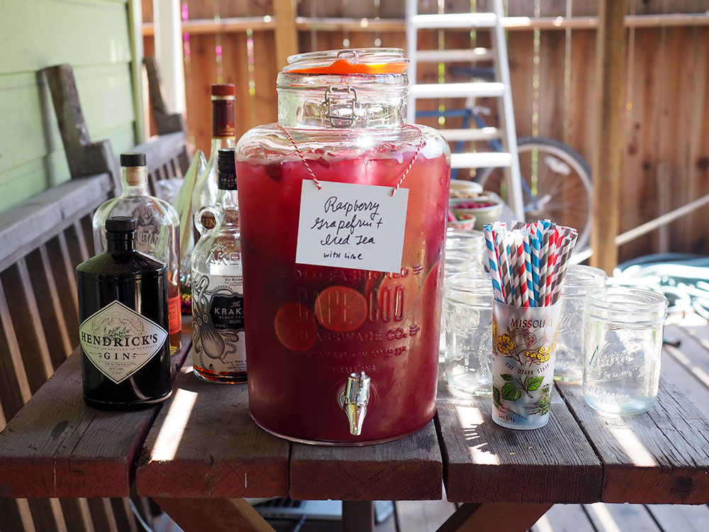 Raspberry Grapefruit Iced Tea with Lime - Beginning with Bergamot