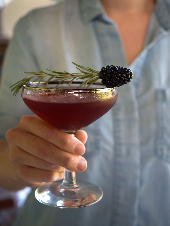 This Earl Grey Blackberry Bourbon Cocktail is rich, warm and fruity. It's the perfect cocktail to drink as summer turns into fall. Get the recipe.