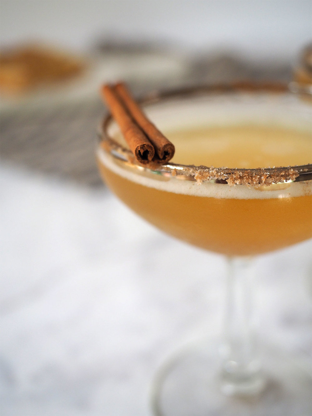 This cocktail combines all the magic of champagne with the warm, cozy flavors of fall. Just two ingredients — an easy-to-make apple shrub infused with chai tea topped with champagne! Perfect for brunch or dessert.