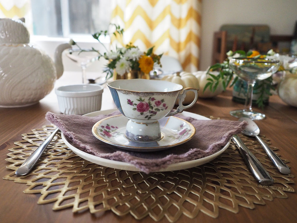 Get tips and ideas for how to throw a modern mismatched tea party! No tiaras, no frilly dresses. Just a step-by-step guide to the teas, food, tableware, and decorations for a completely un-fussy tea party you would actually want to attend