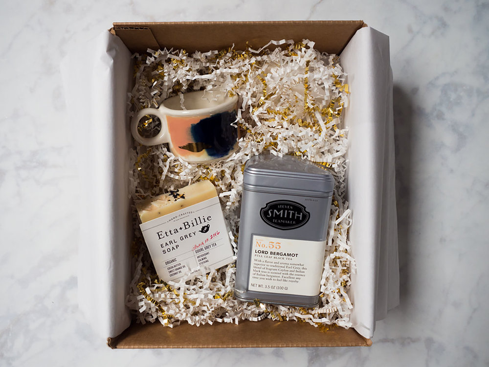 Have a tea lover in your life? Give them an Earl Grey or Chai Tea Gift Box this holiday! It's a unique gift: cozy tea, hand-crafted soap, and a mug to match. They're the perfect Christmas or Hanukkah gift.