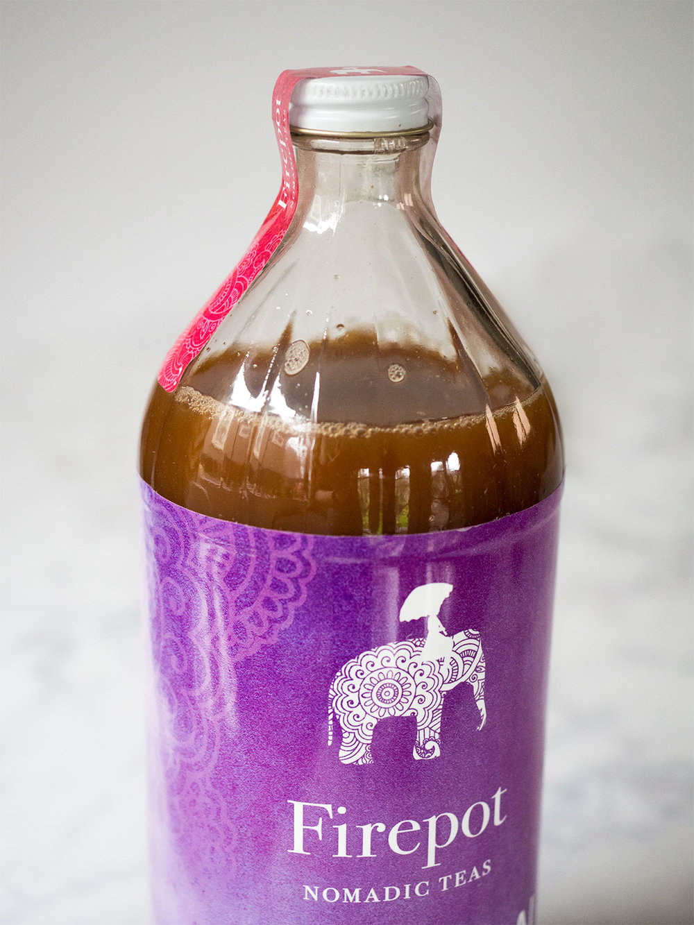 I love this Masala Chai Tea from Firepot Nomadic Teas. It is a premixed chai concentrate with all the spices and just a touch of sweetness. Just combine the chai concentrate with milk and BOOM! Perfect coffeeshop quality chai tea.
