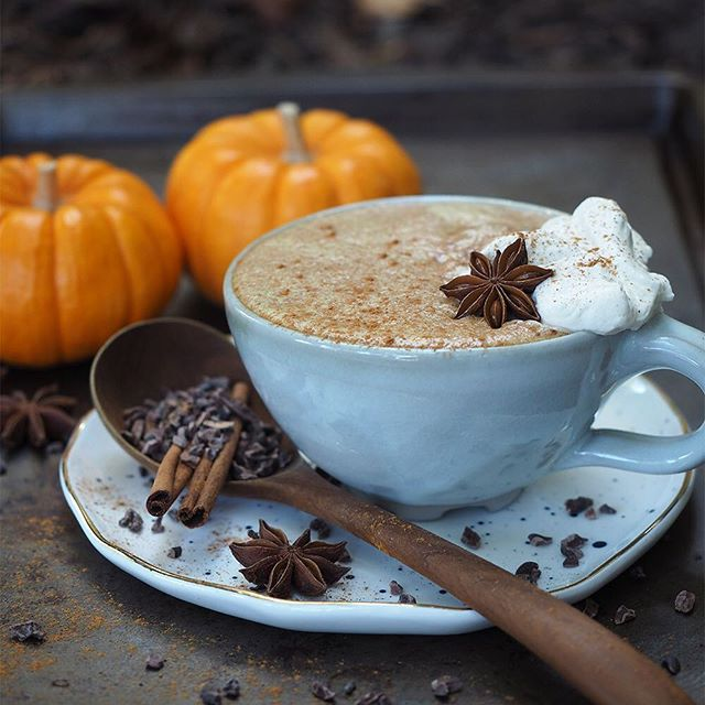 Leftover pumpkin in your fridge? Whip up this Chocolate Pumpkin Chai Latte in under 5 minutes:⠀ .⠀ INGREDIENTS⠀ ½ cup your favorite chai concentrate⠀ ½ cup whole milk⠀ ½ Tbs cacao powder⠀ 1 Tbs pumpkin puree⠀ ½ Tbs coconut oil⠀ .⠀ DIRECTIONS⠀ 1. Heat chai concentrate and milk in the microwave until warm.⠀ 2. Add all ingredients in a blender and blend on high for about 1 minute or until super frothy.⠀ 3. Pour into your favorite mug and top with cinnamon or nutmeg.⠀ .⠀ Screenshot recipe if you want or read the full recipe & post using the link in my profile!⠀ .⠀ HAPPY SUNDAY FRIENDS!