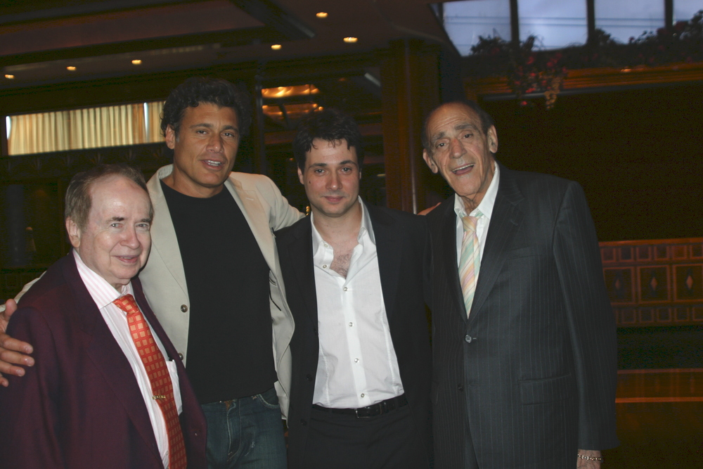 Festival attendees Joe Franklin, Steven Bauer, Adam Ferrara and Abe Vigoda