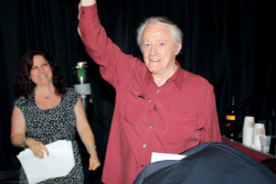 Debra with actor Robert Vaughn at the 2012 festival