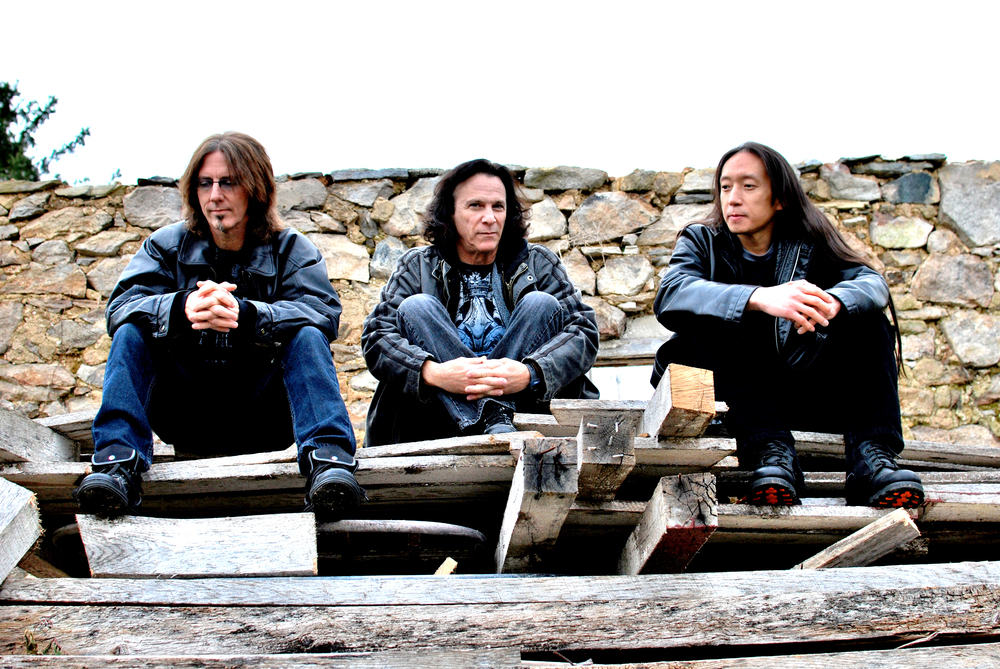Rod with his bandmates in The Jelly Jam: Ty Tabor (King's X) and John Myung (Dream Theater)