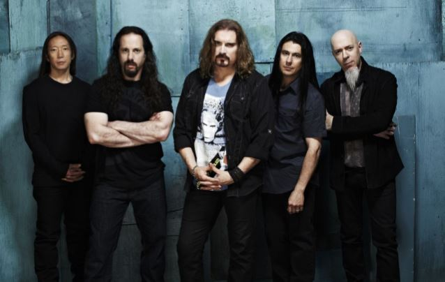 John (left) with Dream Theater