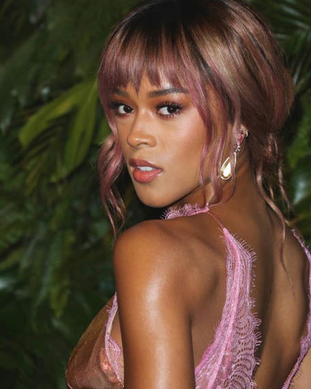 @serayah @vanityfair @maxmara #womeninfilm looking perfect with her new hair color and cut by #prestonwada makeup @ernestocasillas // #styling @aleherself // @love_kevin_murphy @aveda @olaplex @joicointensity