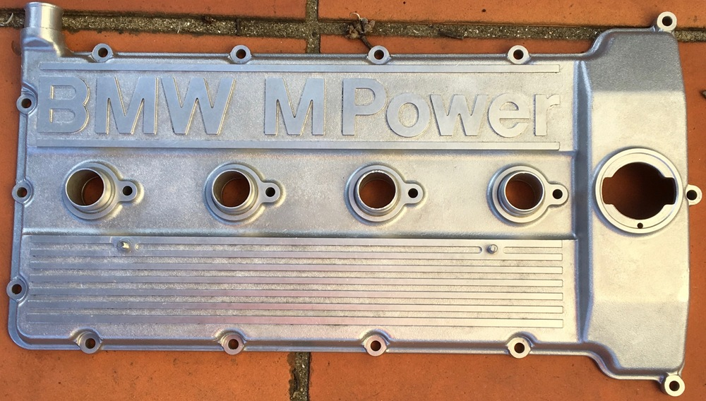 BMW S13 engine cam cover before painting.