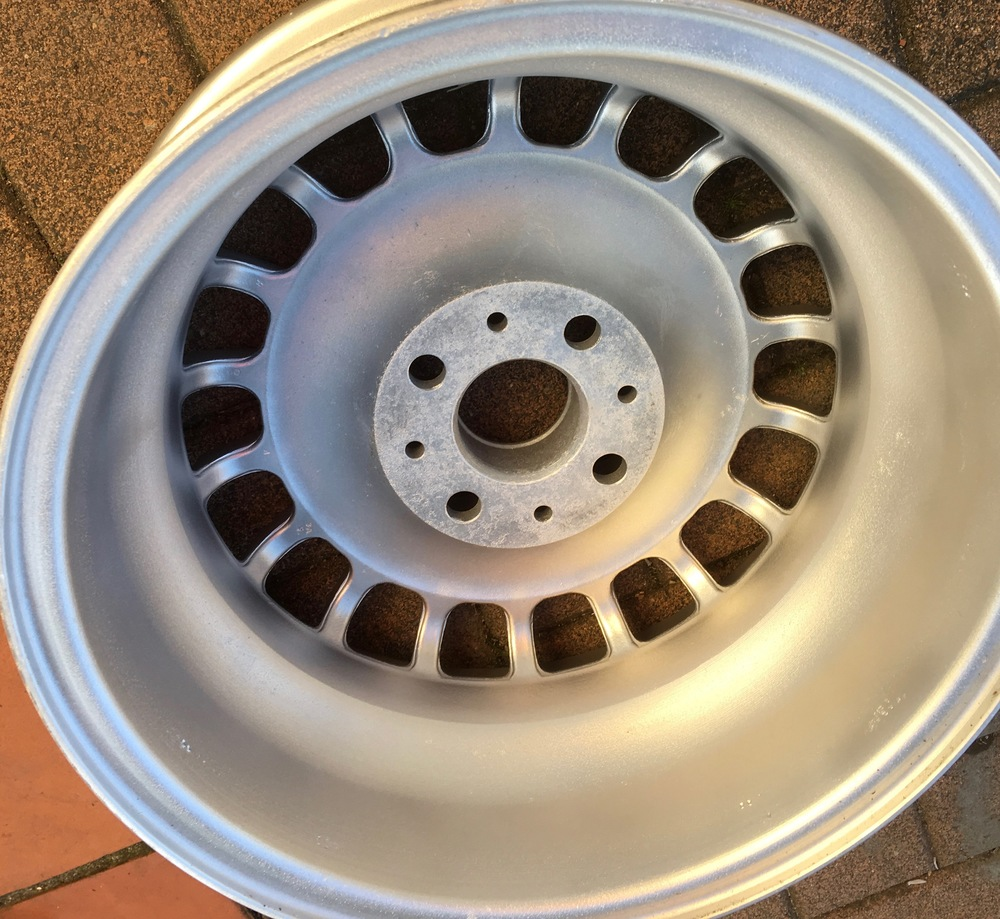 BMW bottletop wheel after treatment