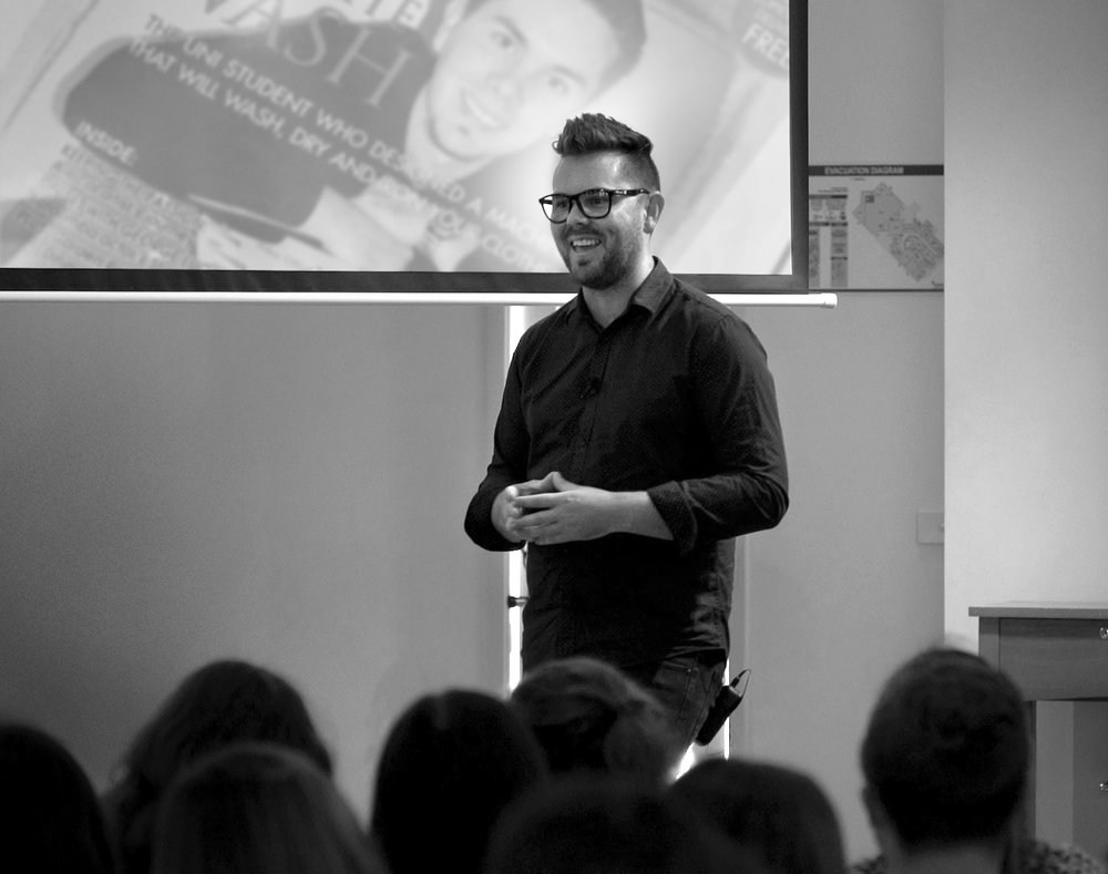 Jason Knight shares his Story of failing school - topping Uni - running a design business. -