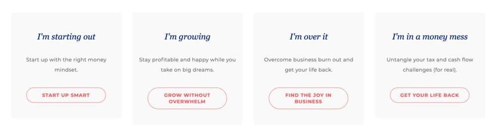 Copywriting that connects the customers needs (what they are actually searching for) with the services offered