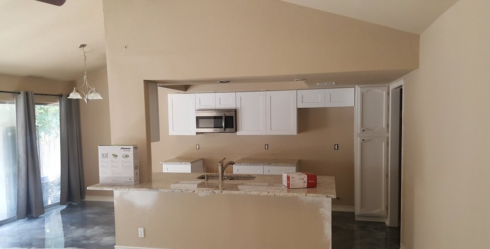 We work on homes large and small, older and new model homes