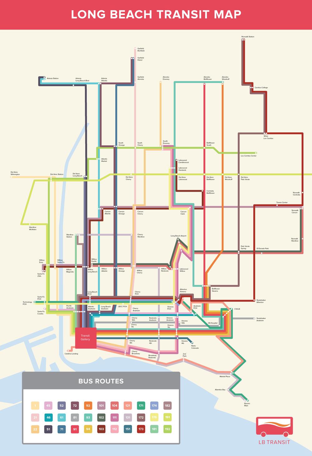 Long Beach Transit Map Best Beach On The World 2017