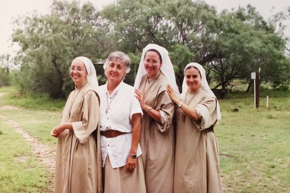 Sr. Amapola, Maria Felicitas, Mother Magdalene, and Sr. Lucicita