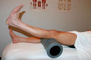 VMO strengthening – finish position: Focus on locking out the knee.