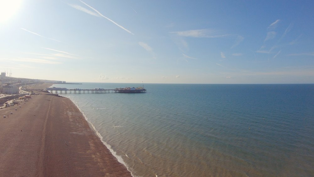 A shot of Brighton beach early in the morning from day 3, Lumina Learning