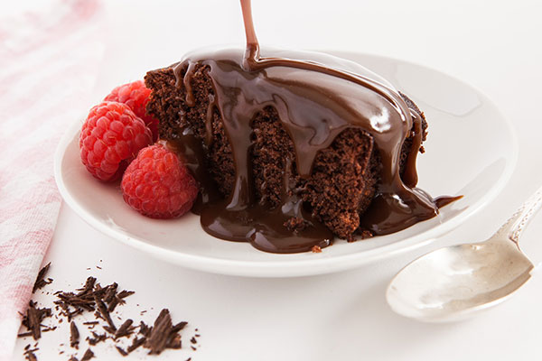 Sticky Chocolate Pudding  A rich chocolate sponge pudding with a luxurious swiss chocolate sauce.