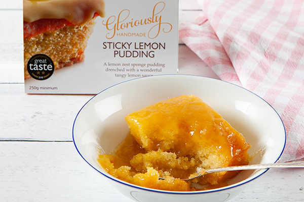 Sticky Lemon Pudding  A lemon zest sponge pudding drenched with a wonderful tangy lemon sauce.