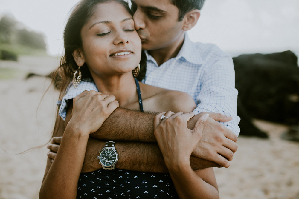 Sharing a moment: Ava and Udit enjoy a few minutes together after the proposal.