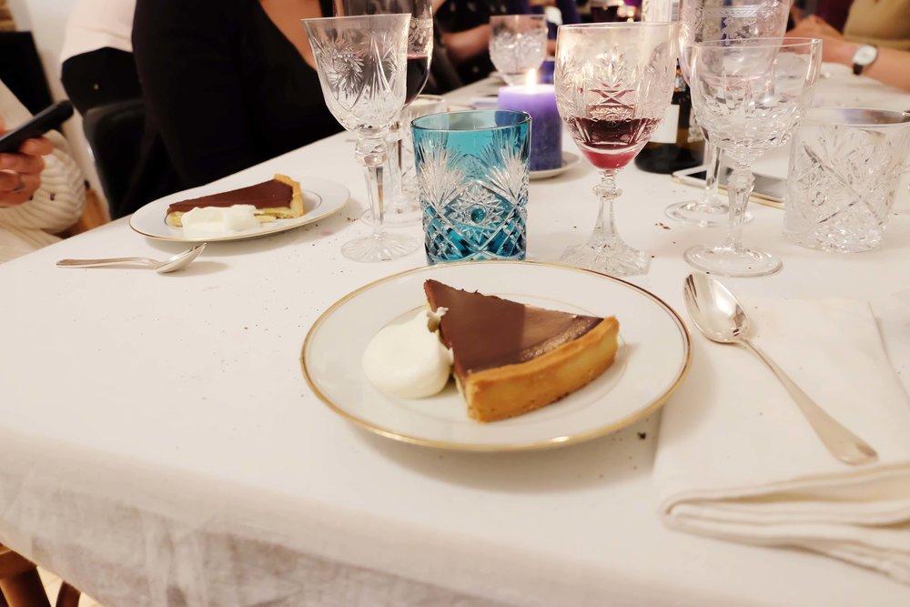 Tarte chocolat amer. Bitter chocolate pie.