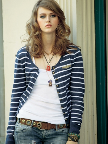 FP-227 Striped Cardigan