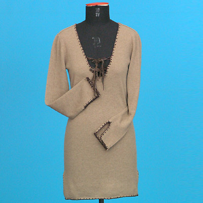 FP-54 Deep V cashmere dress